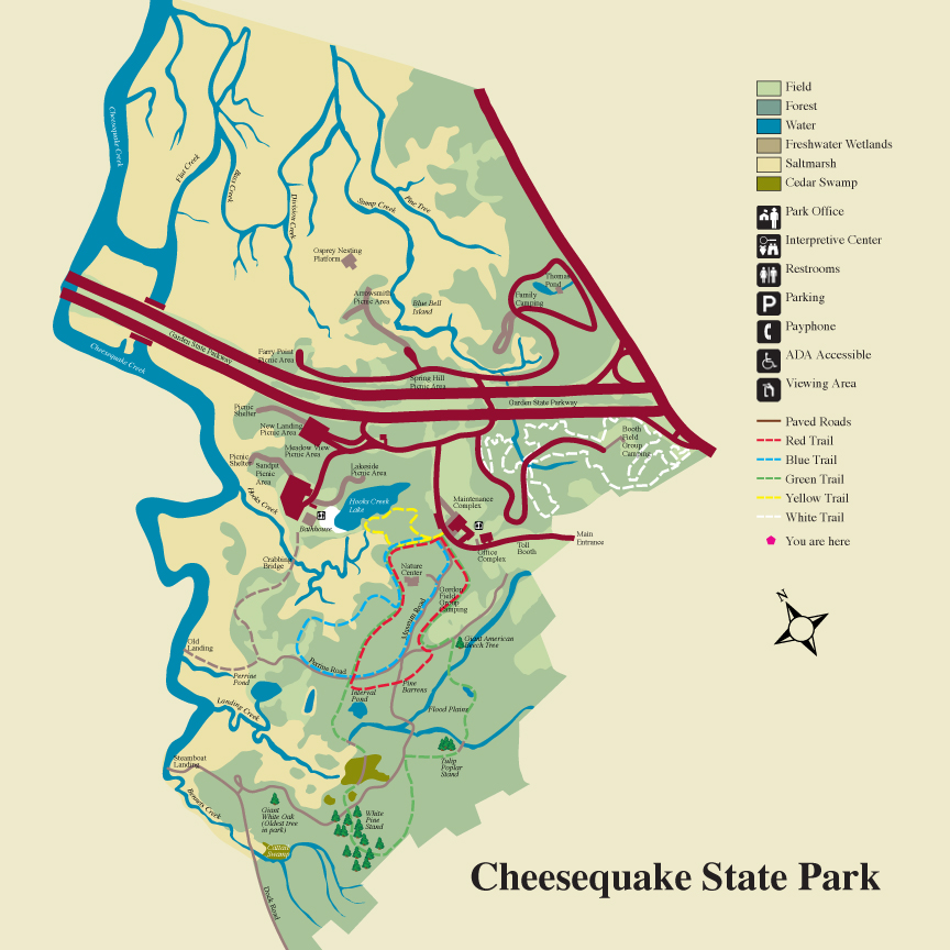 Large State Park Map