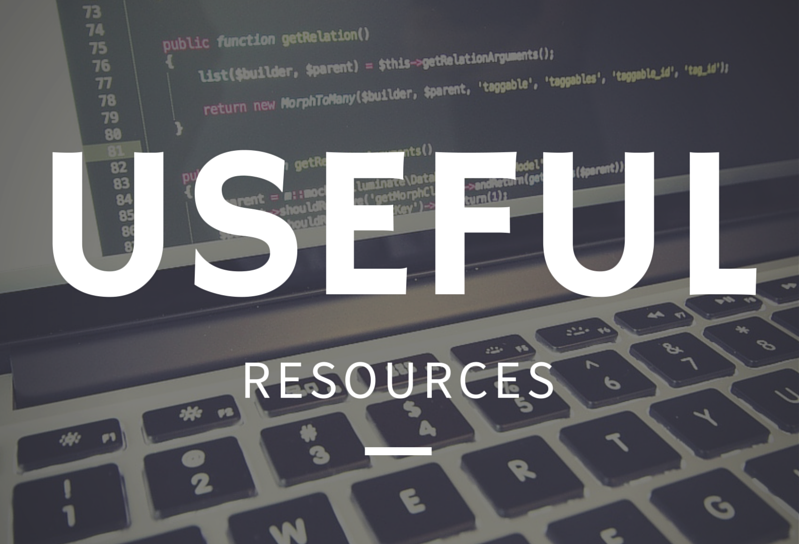 useful resources for web developers