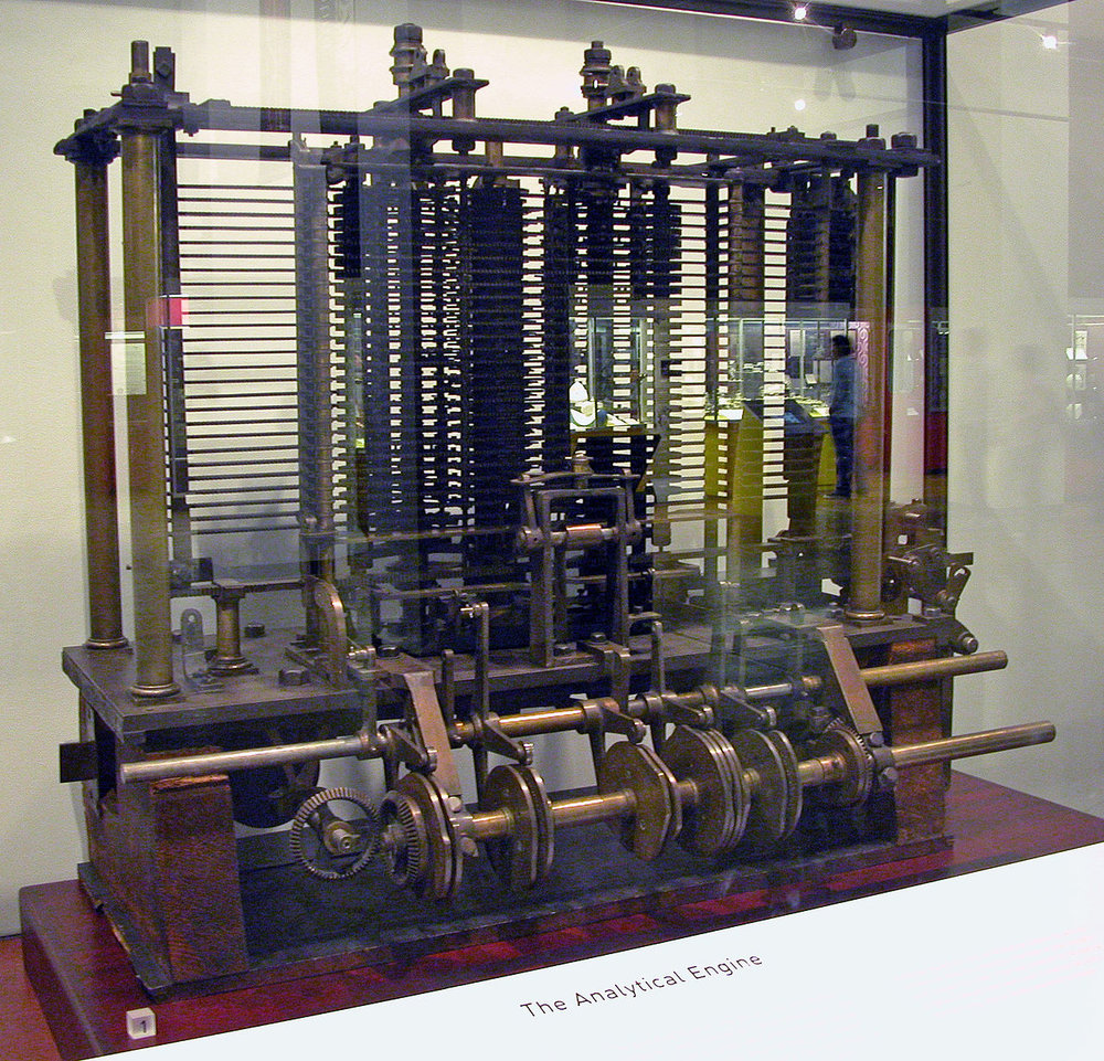 A trial model of a part of the Analytical Engine, built by Babbage, is now at the Science Museum in London