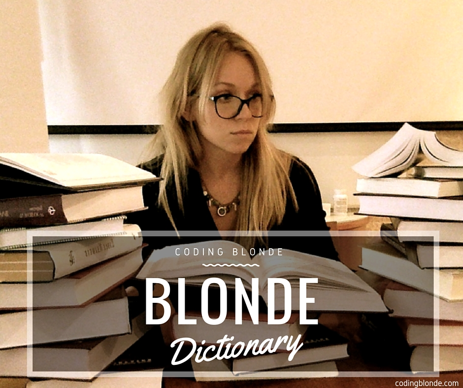 Blonde coding dictionary