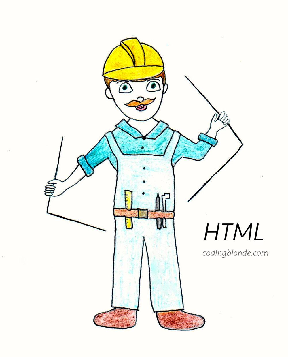 html personality coding blonde