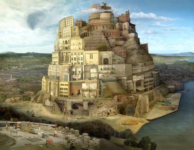 Tower of London (after Bruegel)  2005 by Emily Allchurch Transparency on Bespoke LED lightbox: 124 x 161 cm Edition of 5 + 1AP