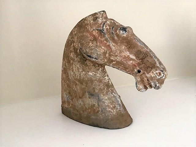 Han Dynasty terracotta horse's head B.C 206 - A.D 220
