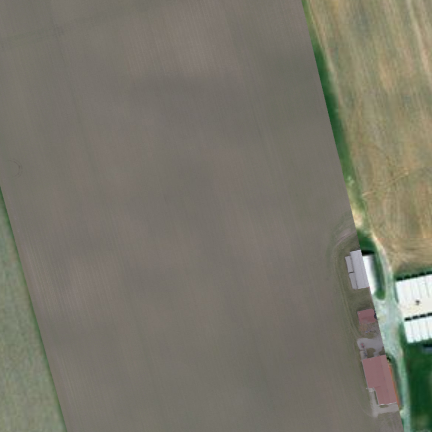 Raw map captured from drone, not much is visible. There isn't much information we can see without using computers to analyze the information captured by the image.