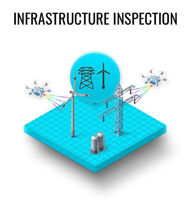 The benefits of using drone inspection for your infrastructure is exponential. Reduce the amount of time on site, playback options for your review and being able to maintain the safety of your employees by keeping them on the ground. #letdronesworkforyou