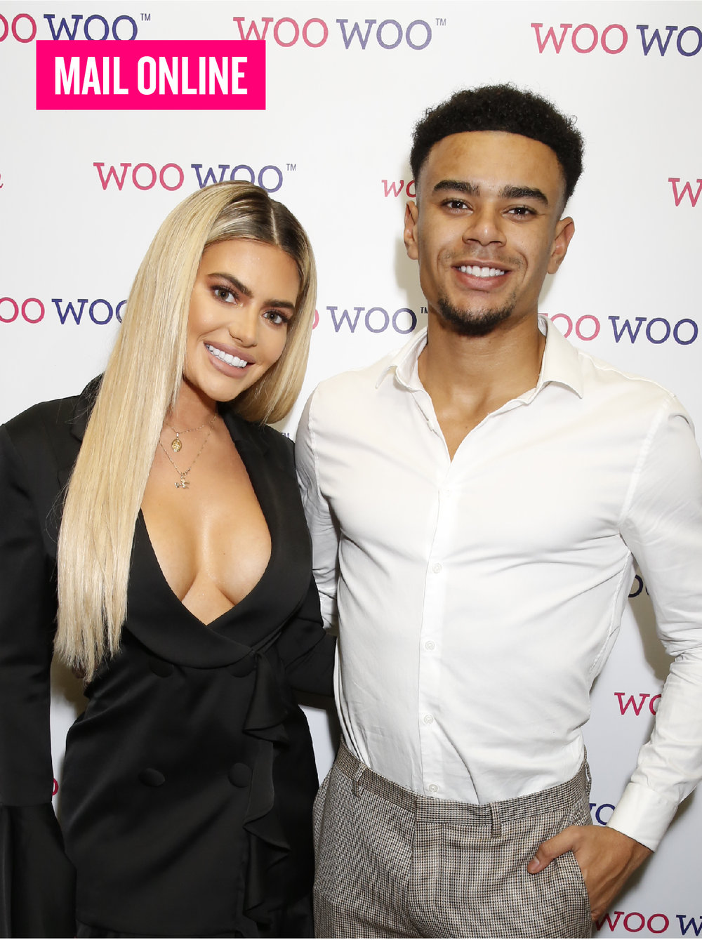 WOOWOO LAUNCH - Love Island's Megan Barton Hanson takes the plunge in a tuxedo mini-dress as she and Wes Nelson share a smooch at Woo Woo party. Read more.