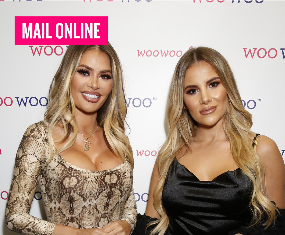 WOOWOO LAUNCH - TOWIE's Chloe Sims amps up the sex appeal in snakeskin bodysuit as she joins glam co-star Georgia Kousoulou at London party. Read more.
