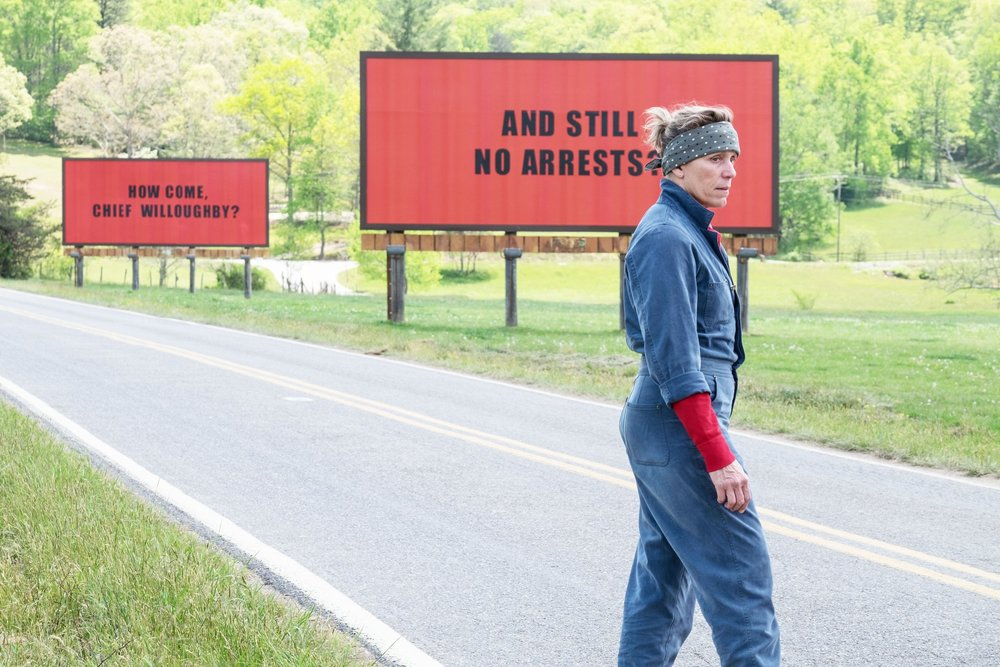 Frances McDormand in Three Billboards Outside Ebbing Missouri