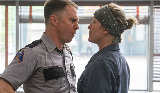 Sam Rockwell and Frances McDormand in Three Billboards Outside Ebbing Missouri
