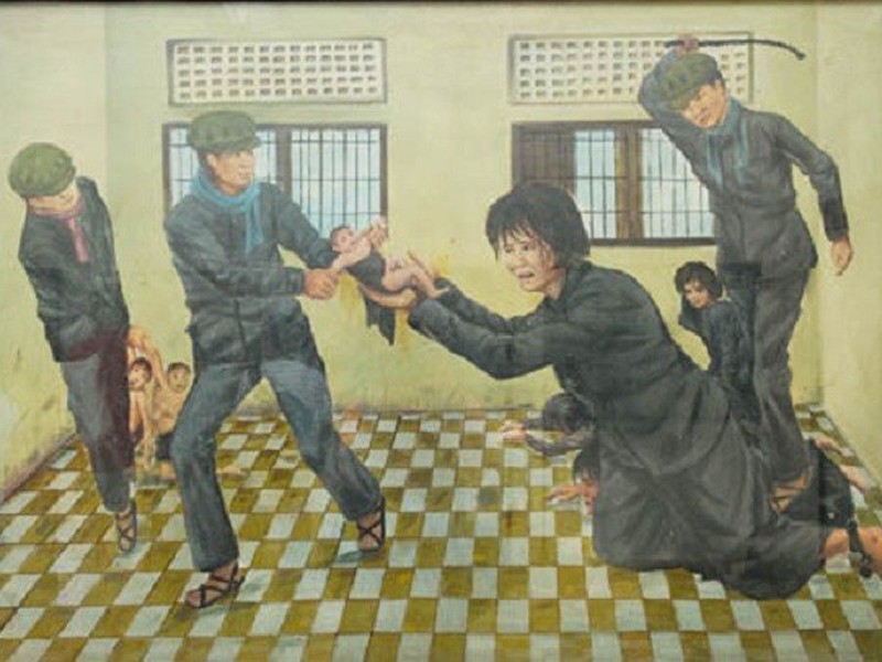 Painting depicting S-21 Prison Camp