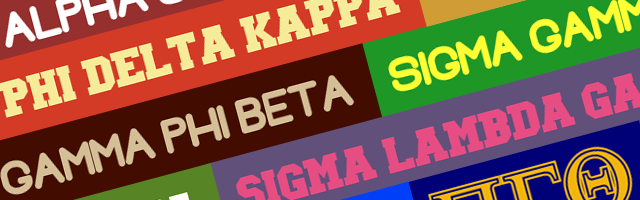 GREEK LIFE - FRATERNITIES AND SORORITIES