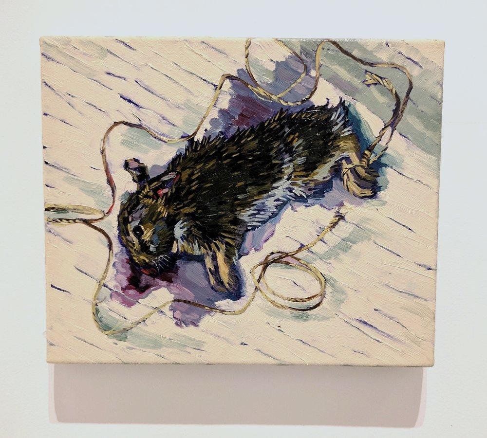 Dara Engler   Bunny Still Life , 2017 Oil on canvas