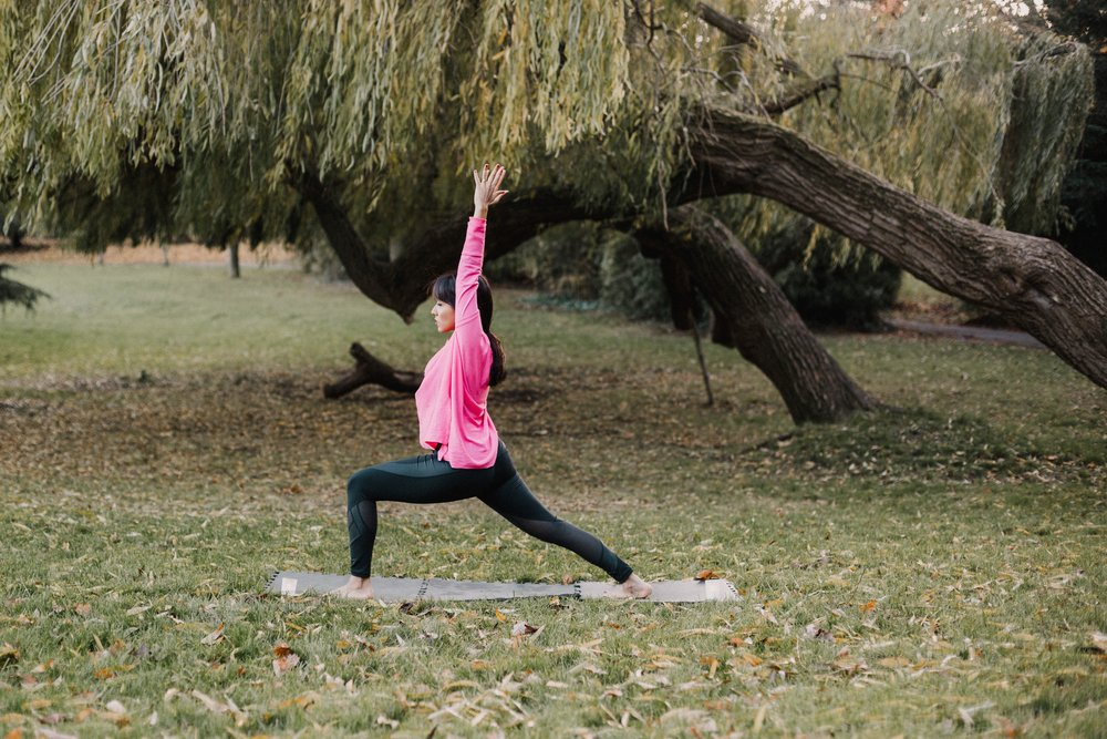 I'm casually doing yoga in the park as you do