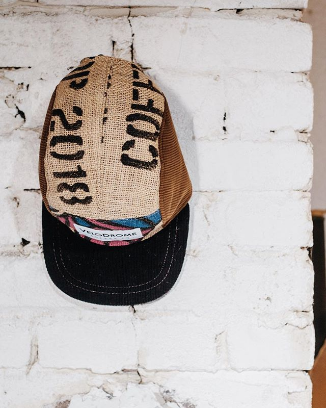 @velodromecoffeeco ╳ Keef Co. There is a limited amount of custom burlap coffee bag hats made. Get one before they're gone! ☕️