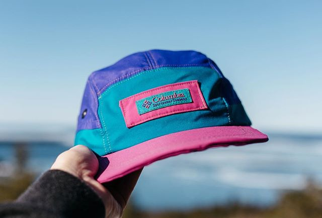 x1 Vintage Columbia windbreaker 5-Panel —  keefcompany.com . | 📸: @rachhaggs | . . . #handmade #northernmichigan #madeintheUSA #keefcompany #hatsofinstagram #ecofriendlyclothing #hats #coolhats #dadhats #5panel #repurposed #recycled #recycledtextiles #outsiderculture #adventure #vsco #liveoutdoors #optoutside #outsidewear #liveauthentic #travelhat #puremichigan #michigrammers #michiganmade #shopsmall #vintage #columbia #jacket
