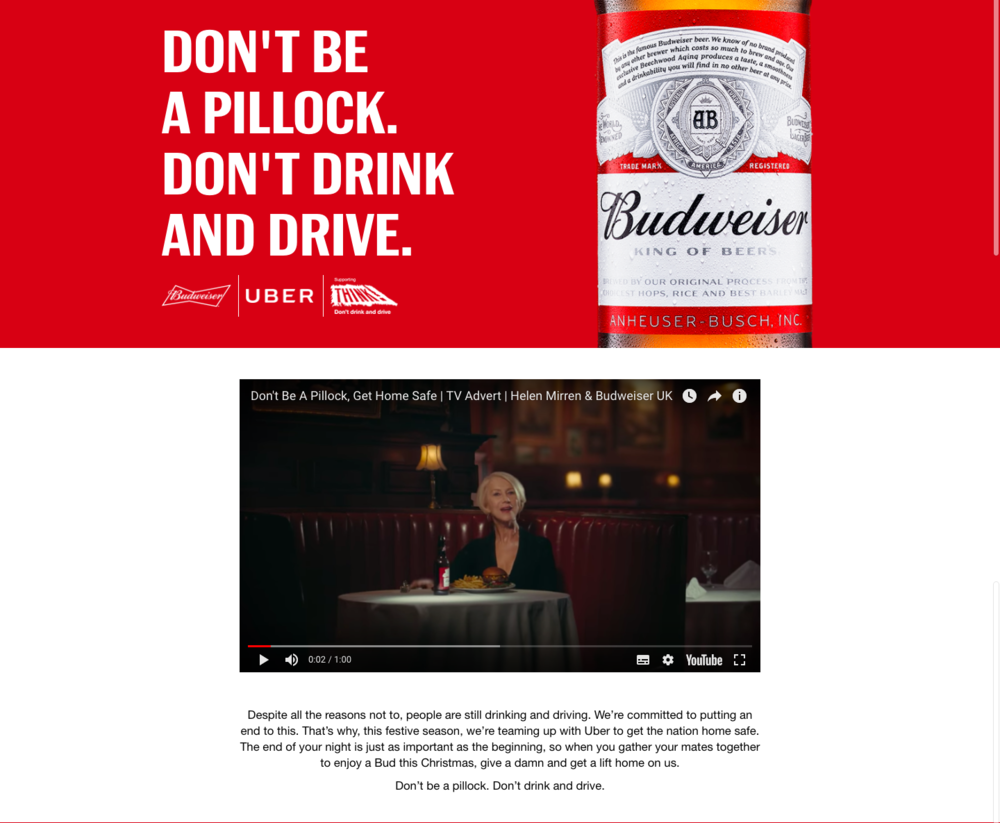 Image source:  Budweiser