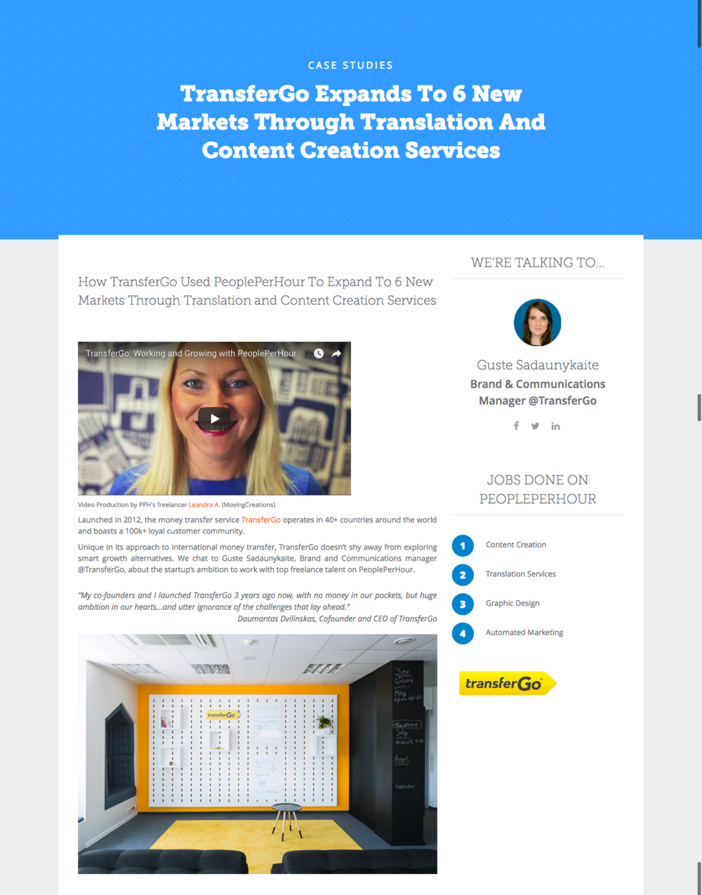 Customer Success Stories - Led the project from A to Z. Carried out internal research to identify the most interesting customer stories. Interviewed customers and crafted the stories, including video testimonials. Collaborated with a web designer to create the landing page concept.