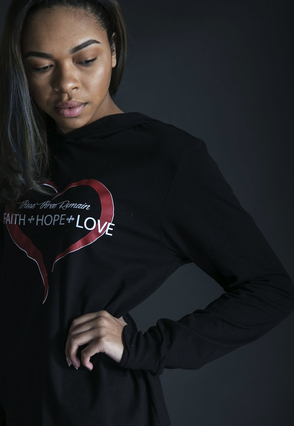 Faith Hope Love Hoodie - $42
