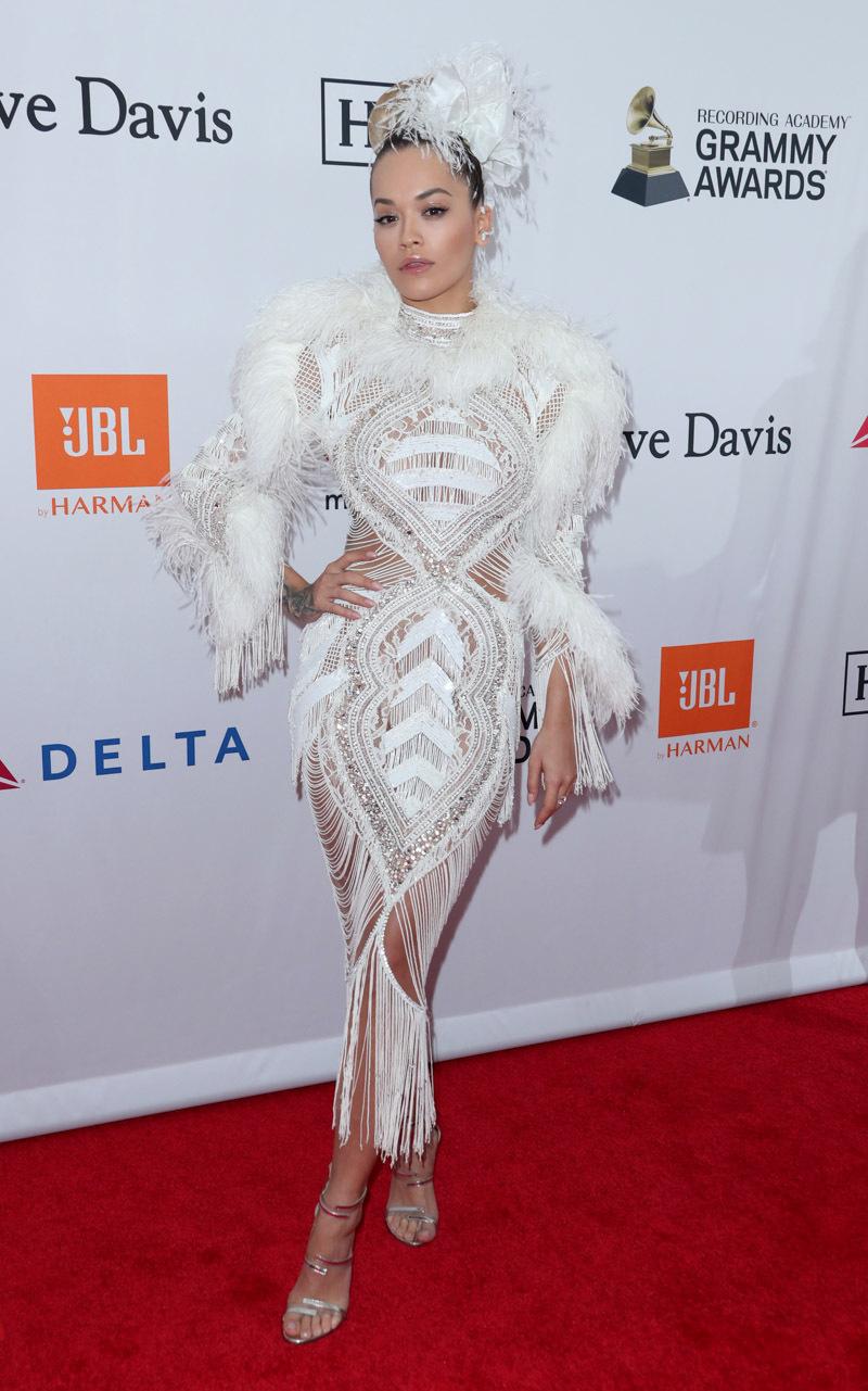 Rita Ora - Clive Davis Pre-Grammy Party Red Carpet