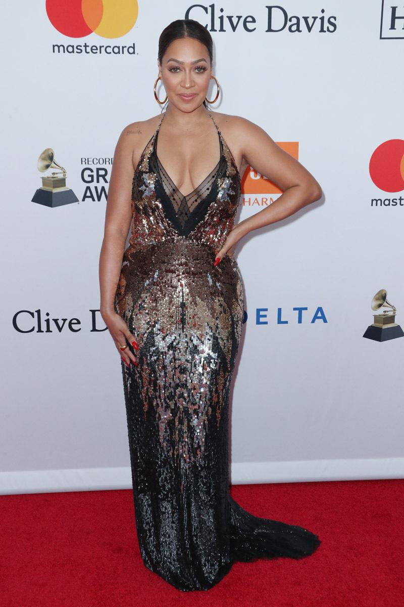 LaLa - Clive Davis Pre-Grammy Party Red Carpet