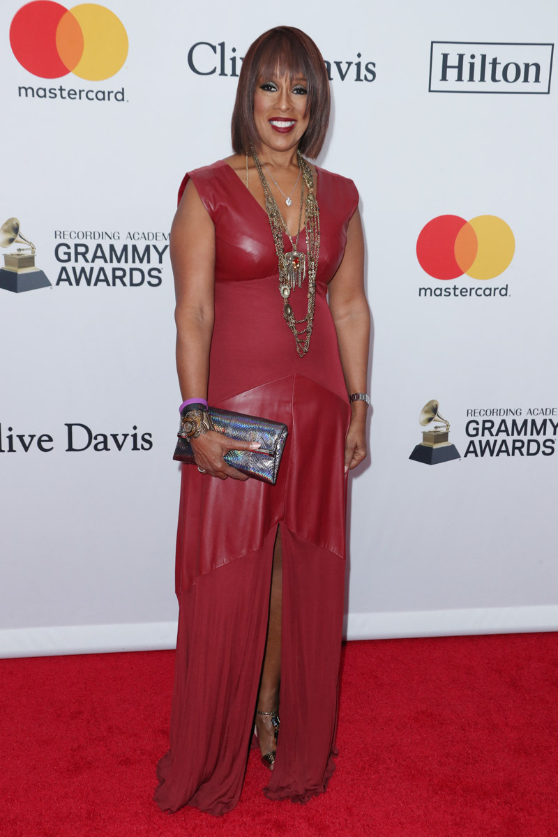 Gayle King - Clive Davis Pre-Grammy Party Red Carpet