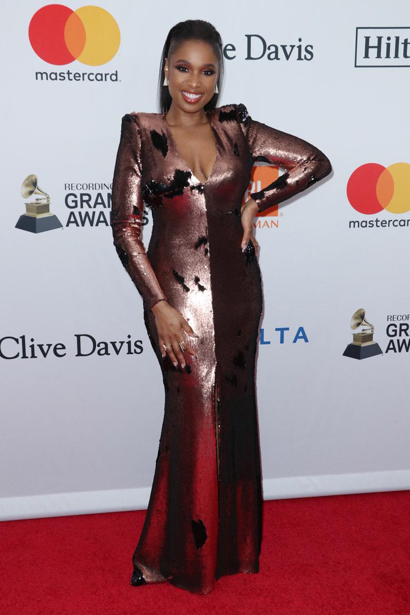 Jennifer Hudson - Clive Davis Pre-Grammy Party Red Carpet