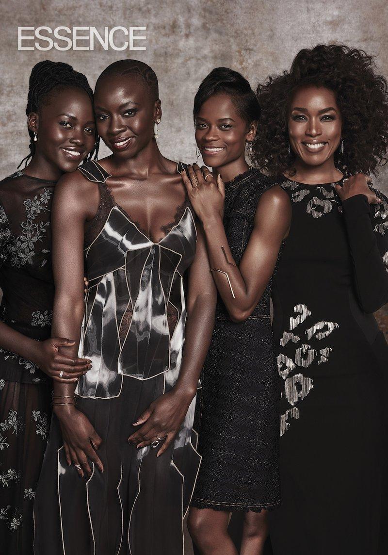 LADIES OF BLACK PANTHER - Lupita Nyong'o, Danai Gurira, Letitia Wright & Angela Bassett