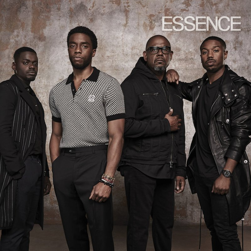 The Fellas of Black Panther - Daniel Kaluuya, Chadwick Boseman, Forest Whitaker & Michael B. Jordan