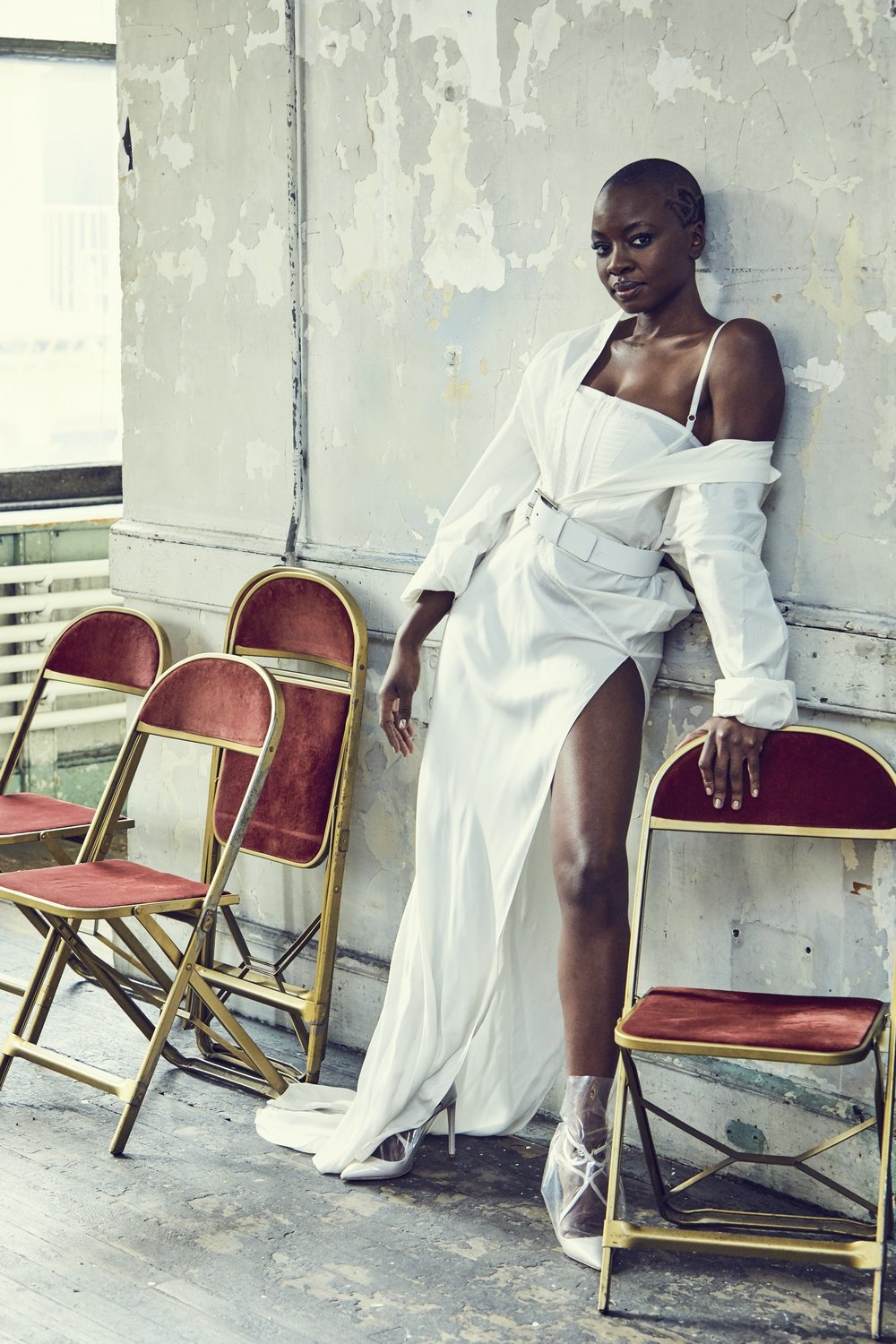 Danai Gurira - Dress & Bustier: Vera Wangn CollectionBelt: Michael Kors CollectionShoes: Off-White c/o Jimmy Choo