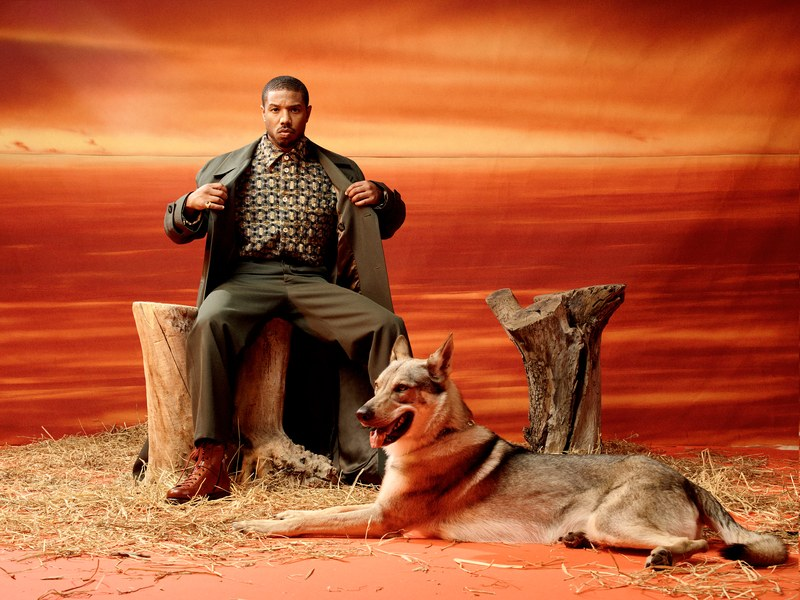 GQ MAGAZINE MEN OF THE YEAR ISSUE 2018 MICHAEL B JORDAN WITH COYOTE.jpg