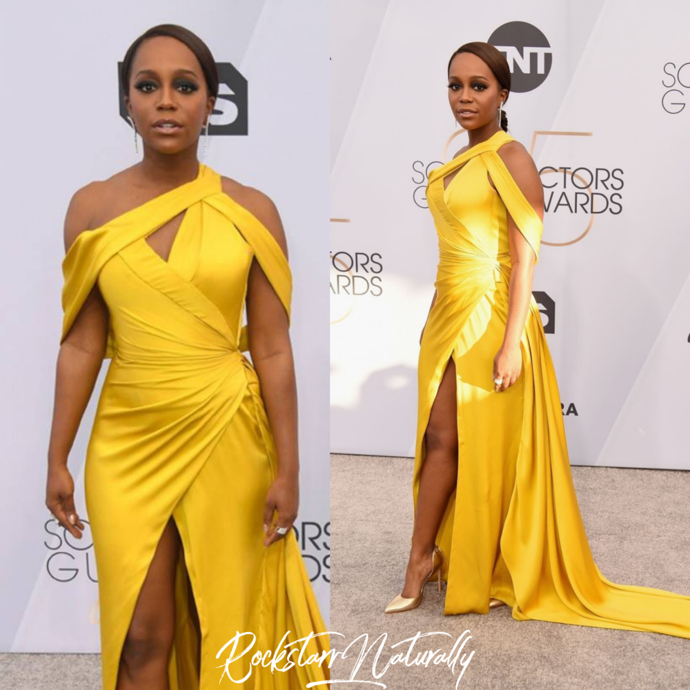 - Aja Naomi King in Chloe Gosselin shoes and Effy jewelry