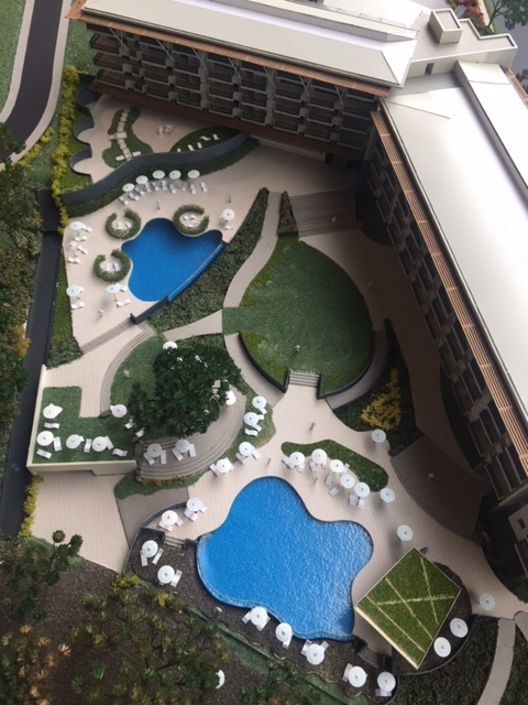Model - Arial Pool View