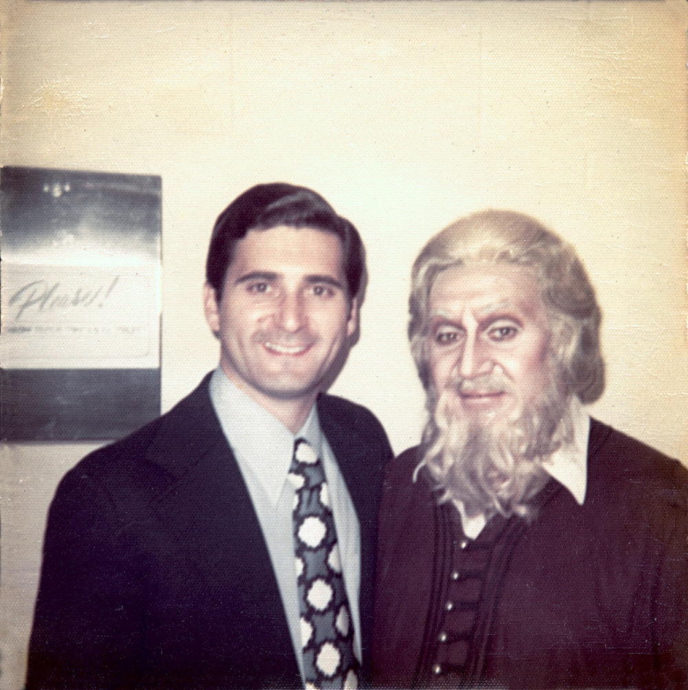 David with his father, Richard Tucker, at a performance of La Juive.