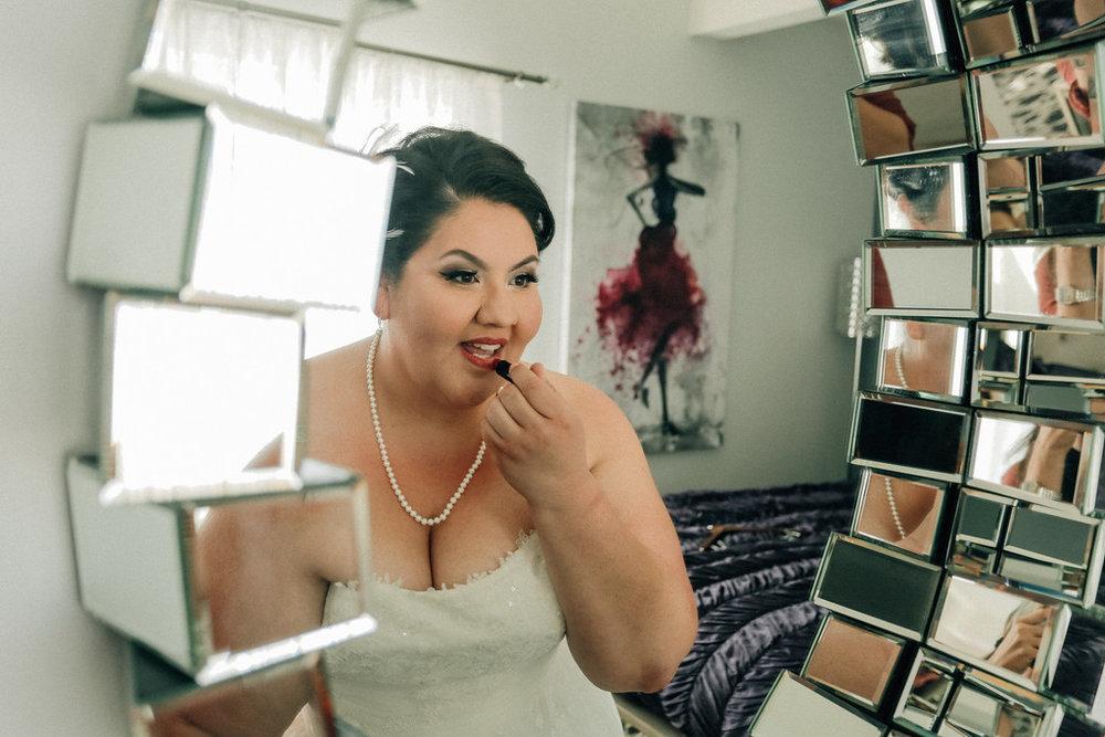 candid wedding shot