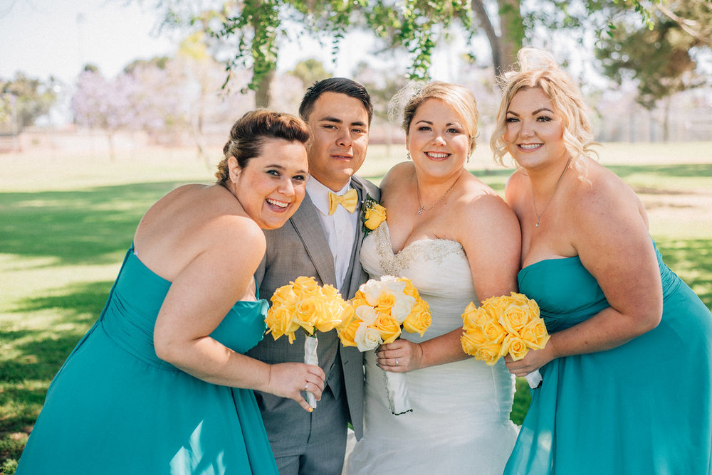 the sweetest wedding party photo
