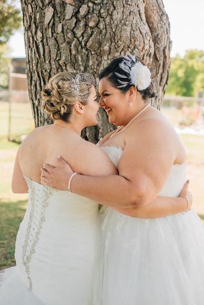 intimate portraits at lesbian wedding