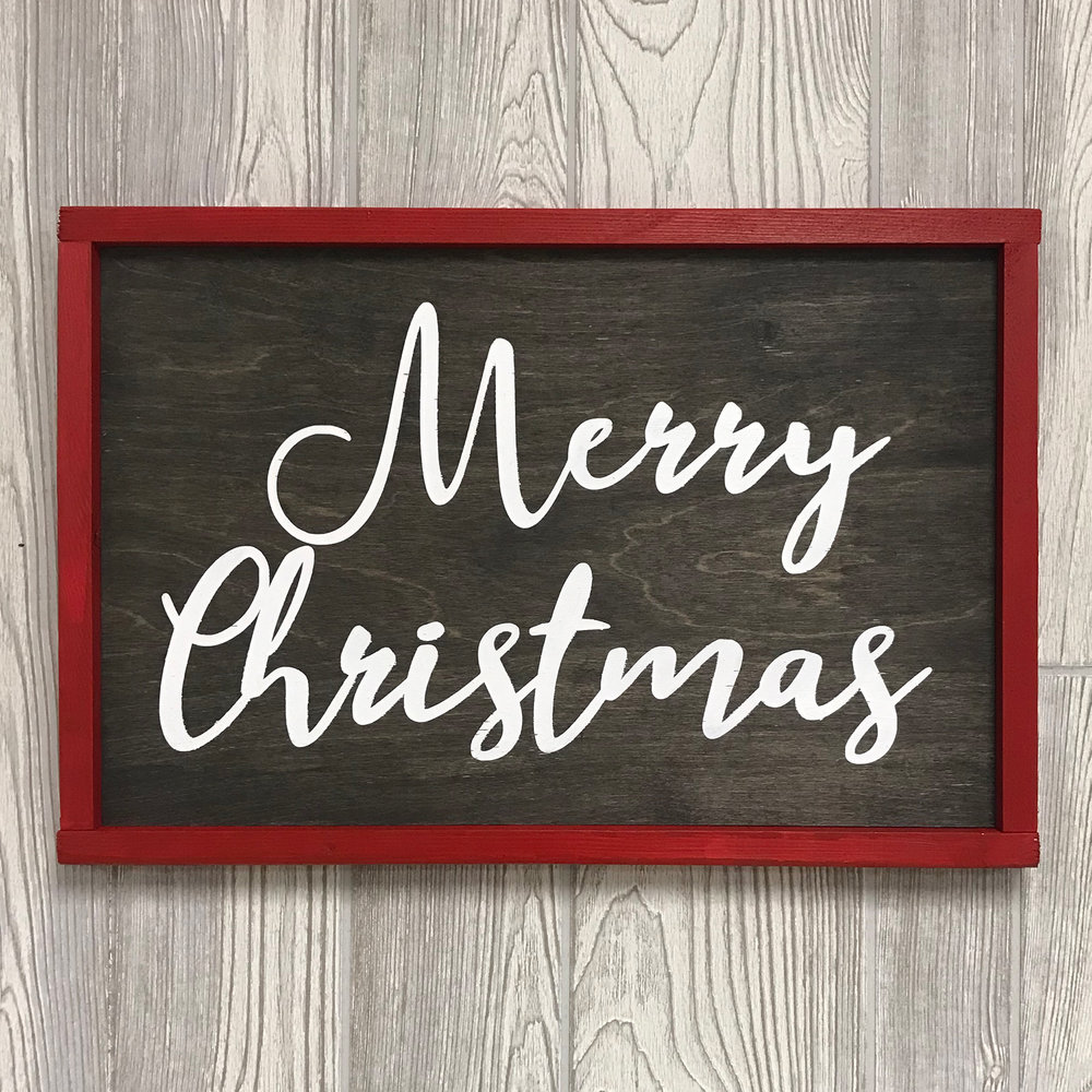 "$45 | Merry Christmas | 20"" x 12"""