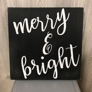 "$40 | Merry and Bright | 13""x13"""