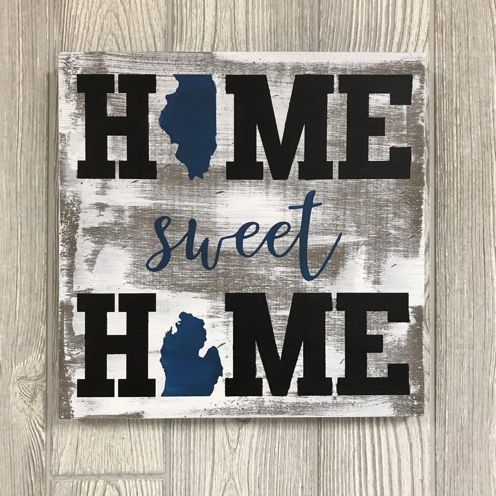 "$40 | Sweet Home | 13""x13"""