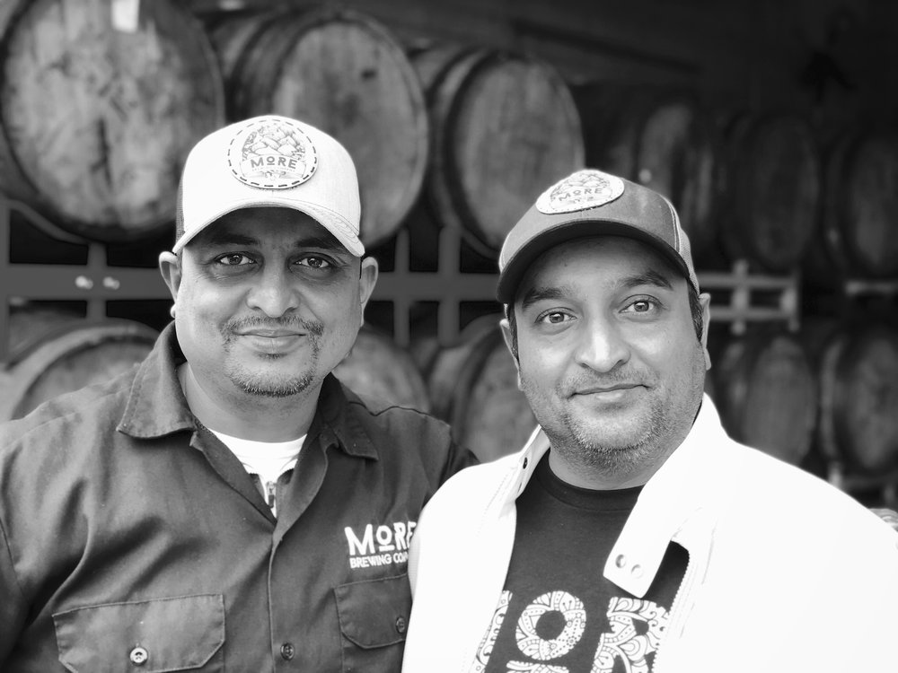 Owners and Brothers - Sunny (left) & Perry (right)    Sunny@morebrewing.com - Perry@morebrewing.com