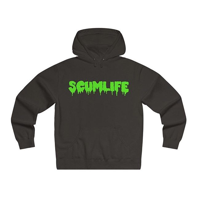 All NEW SCUMLIFE - (SLIME DRIP) HOODIE Available Now! | ScumlifeMerch.com  Regular price $55.00  Made with premium soft lightweight fabric and generous fit for the utmost coziness. Durable print adds an edge to this ultimate everyday item. .: Generous fit .: 80% Soft cotton; 20% Polyester (fibre content may vary for different colors) .: Medium fabric (6.5 oz/yd² (210 g/m²)) .: Sewn in label .: Runs true to size  XS	S	M	L	XL	2XL	3XL Width, in	20	20	22	23	24	25	25 Length, in	26	27	28	29	30	31	32 Sleeve length, in	26	26	26	27	27	28	28
