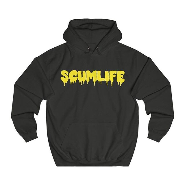All NEW SCUMLIFE - (HONEY MUSTARD DRIP) HOODIE Available Now! | ScumlifeMerch.com  Regular price $55.00  This hoodie has a classic design and provides comfort with style. Small hidden opening for earphone cord feed and hidden earphone loops make it perfect for listening favorite tracks on the run. .: Loose fit .: 80% Cotton; 20% Polyester (fibre content may vary for different colors) .: Medium Heavy fabric (8.3 oz /yd² (280 g/m²)) .: Tear away label .: Runs true to size  XS	S	M	L	XL	2XL Width, in	20	21	23	25	26	28 Length, in	26	27	28	29	30	32 Sleeve length, in	23	24	24	25	25	26