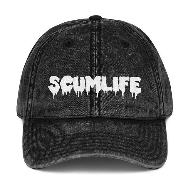 All NEW SCUMLIFE - VINTAGE DAD HAT Available Now! | ScumlifeMerch.com  Regular price $30.00  Everybody knows that dad caps are no longer just for dads, so get an embroidered cotton twill cap for yourself! This one's really special thanks to the intricate embroidery detail and the washed out vintage feel.