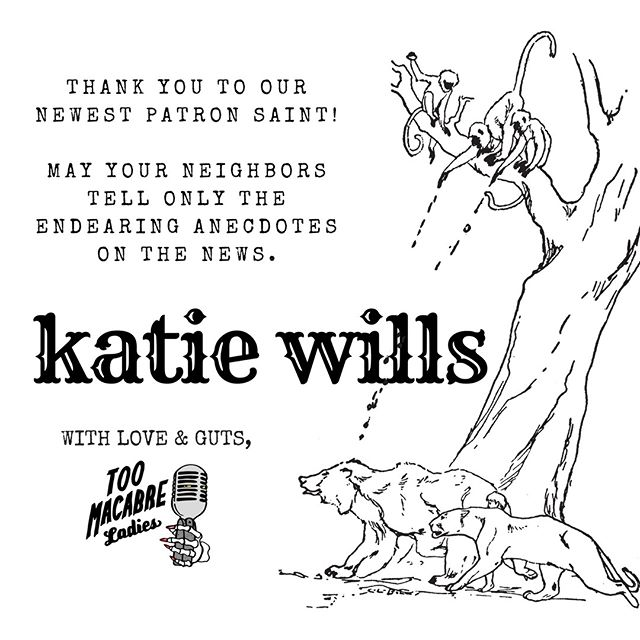 We're here to protect your legacy, Katie. Love, thanks, and tepid true crime to the max!