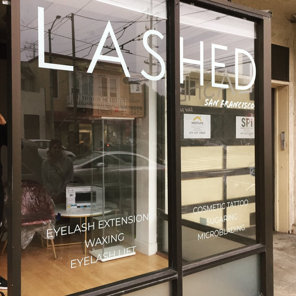 LASHED-Window decal