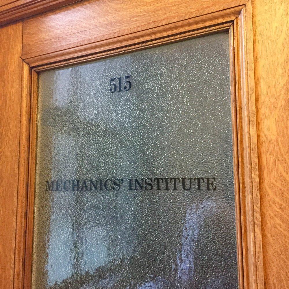 Mechanics' Institute-Door Decal