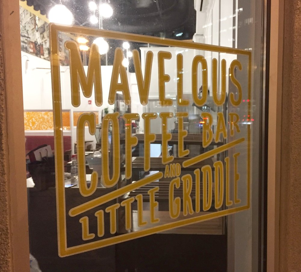 Mavelous Coffee Bar-Window decal