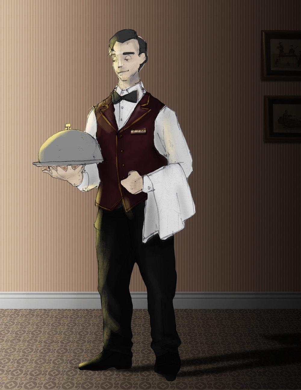 Costume sketch for the Gentleman Caller