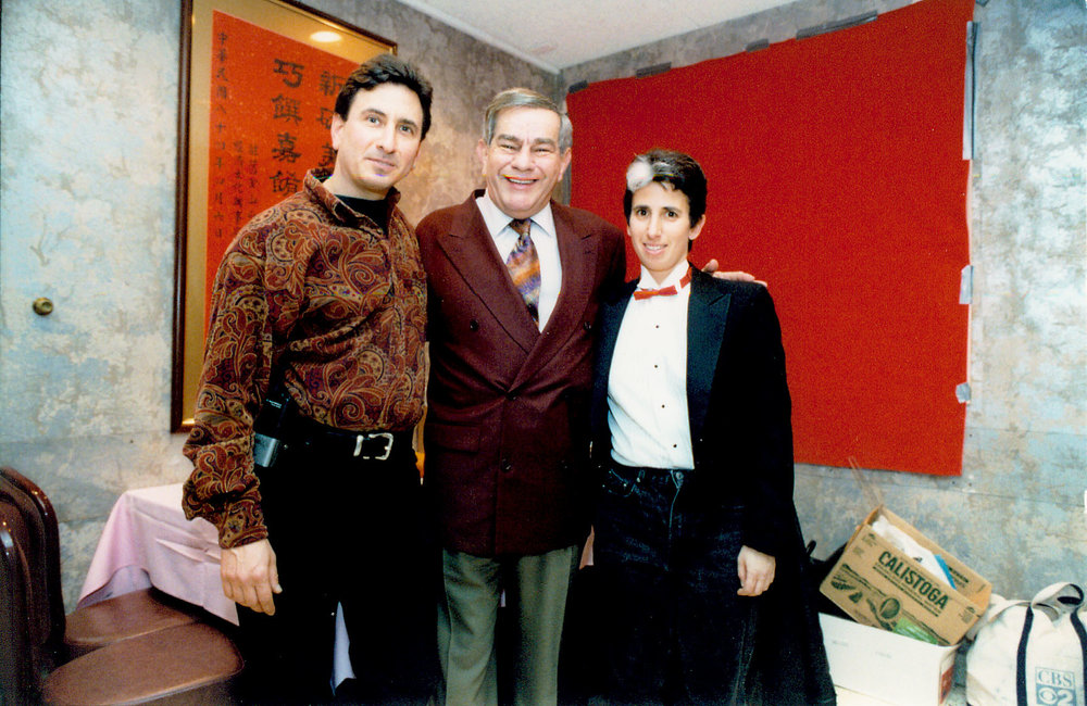 Lawrence Helman (staff), Freddie Roman, and Lisa Geduldig, 1998