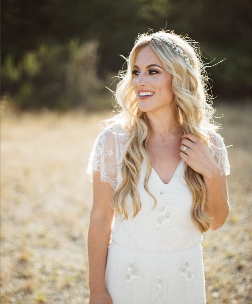 beautiful Bohemian  bride kim kish  CREDIT PHOTOGRAPHER SPARKSFLYPHOTOGRAPHY   makeup by : vina gisella